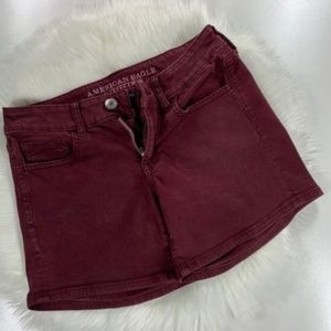 American Eagle Women's Jean Shorts Red Size 4